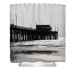Newport Pier Shower Curtain by Paul Velgos