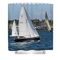 Newport Rhode Island Shower Curtain by Tom Prendergast