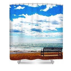 Thinking Spot  Shower Curtain