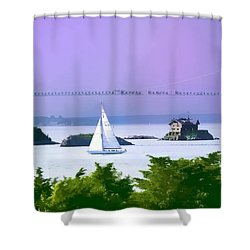 Newport Water Color Effect Shower Curtain by Tom Prendergast