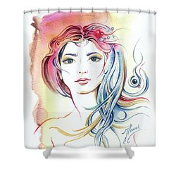 News From Outer Space Shower Curtain