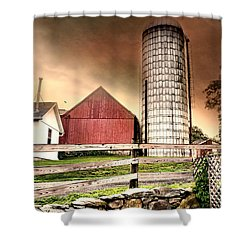 The Newtown Silo Shower Curtain