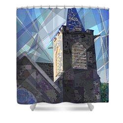 Newtown Steeple Shower Curtain