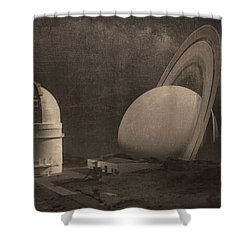 Next Universe Over Shower Curtain