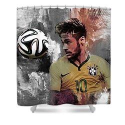 Neymar 051a Shower Curtain by Gull G