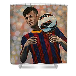 Neymar Shower Curtain by Paul Meijering