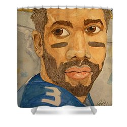 New School Football Seattle Shower Curtain