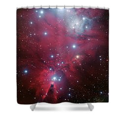 Shower Curtain featuring the photograph Ngc 2264 And The Christmas Tree Star Cluster by Eso
