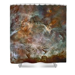 Ngc 3372 Taken By Hubble Space Telescope Shower Curtain