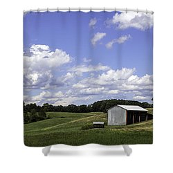 Shower Curtain featuring the photograph Nh Farm Scene by Betty Denise