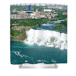 Niagara American And Bridal Veil Falls  Shower Curtain