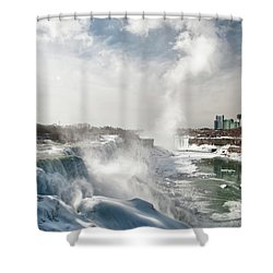 Shower Curtain featuring the photograph Niagara Falls 4601 by Guy Whiteley
