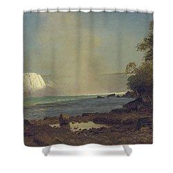 Niagara Falls Shower Curtain by Albert Bierstadt