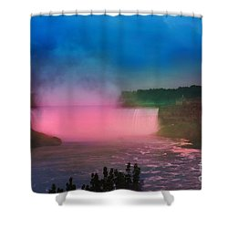 Niagara Falls At Night Shower Curtain