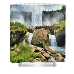 Niagara Falls Cave Of The Winds Shower Curtain