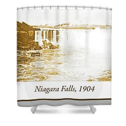 Shower Curtain featuring the photograph Niagara Falls Ferry Boat 1904 Vintage Photograph by A Gurmankin