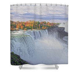 Niagara Falls In Autumn Shower Curtain