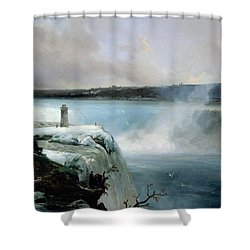 Niagara Falls Shower Curtain by Jean Charles Joseph Remond