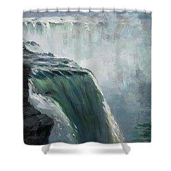 Niagara Falls Ny Shower Curtain by Ylli Haruni
