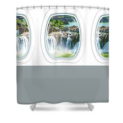 Niagara Falls Porthole Windows Shower Curtain