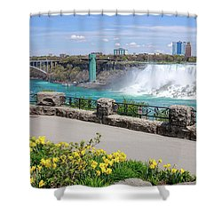 Niagara Falls Spring Time Shower Curtain