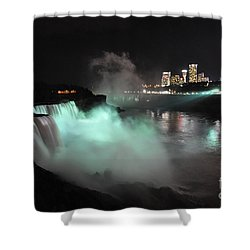 Shower Curtain featuring the photograph Niagara Night Lights by Gina Savage