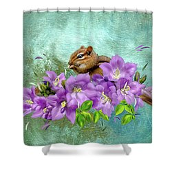 Nibbler Shower Curtain by Mary Timman