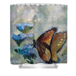 Nibbling Nectar Shower Curtain