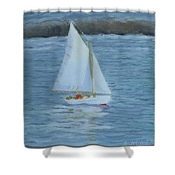 Nice Day For A Sail Shower Curtain