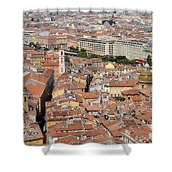 Shower Curtain featuring the digital art Nice - France by Leo Symon