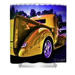 Nice Rear Edited Shower Curtain