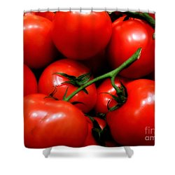 Nice Tomatoes Baby Shower Curtain by RC DeWinter