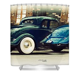 Shower Curtain featuring the photograph Nice Wheels by Chris Armytage