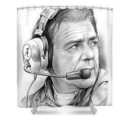 Nick Saban Shower Curtain