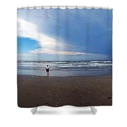 Nicki At Port Aransas Shower Curtain