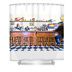 Nick's Diner Shower Curtain