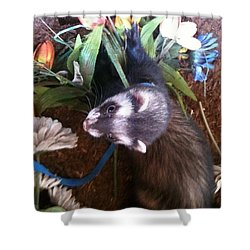 Nicky Wants This Flower Shower Curtain