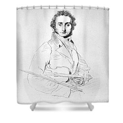 Nicolo Paganini (1782-1840) Shower Curtain