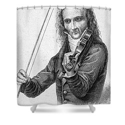Nicolo Paganini Shower Curtain
