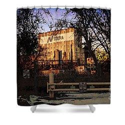 Shower Curtain featuring the digital art Nidera by David Blank