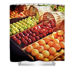 Nielsen Bros Market, Carmel California Shower Curtain