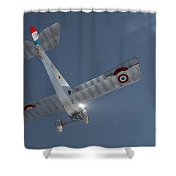 Nieuport 17 In The Blue Sky Shower Curtain by David Collins