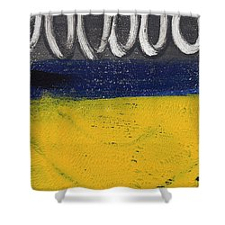 Night And Day Shower Curtain by Linda Woods