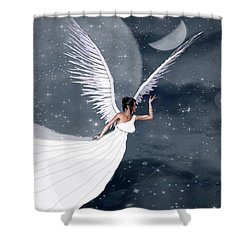 Night Angel Shower Curtain