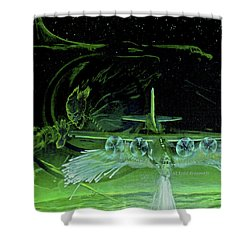 Night Angels Shower Curtain by Todd Krasovetz