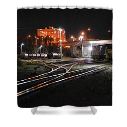 Night At The Railyard Shower Curtain