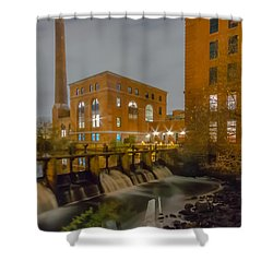 Night At The River Vertical Shower Curtain