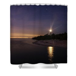 Night At The Sanibel Lighthouse Shower Curtain