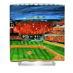 Night At The Yard Shower Curtain