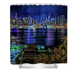 Night Beauty Shower Curtain